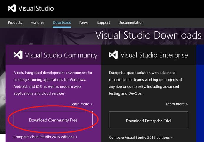 Programming in C++ with Visual Studio 2015